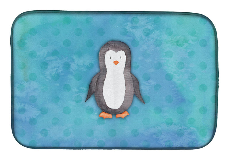 Buy this Polkadot Penguin Watercolor Dish Drying Mat BB7376DDM