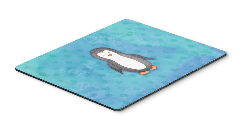 Buy this Polkadot Penguin Watercolor Mouse Pad, Hot Pad or Trivet BB7376MP
