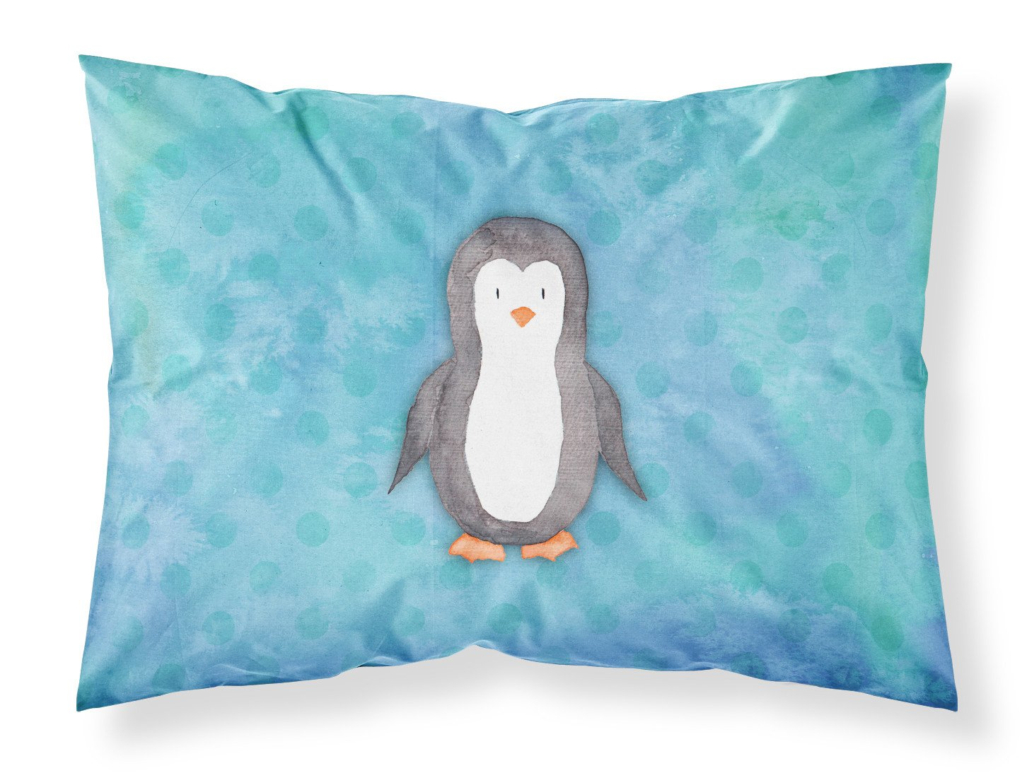 Buy this Polkadot Penguin Watercolor Fabric Standard Pillowcase BB7376PILLOWCASE