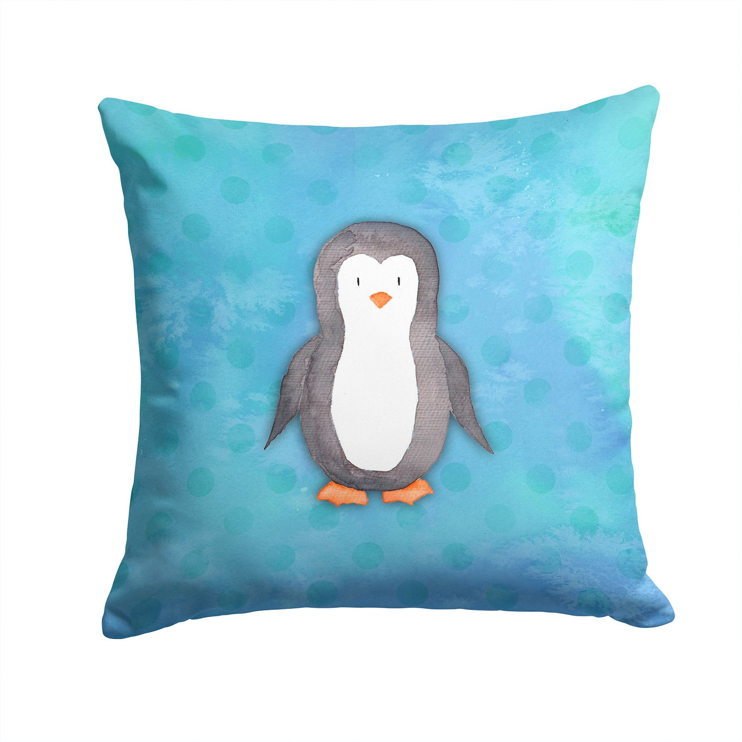 Buy this Polkadot Penguin Watercolor Fabric Decorative Pillow BB7376PW1414