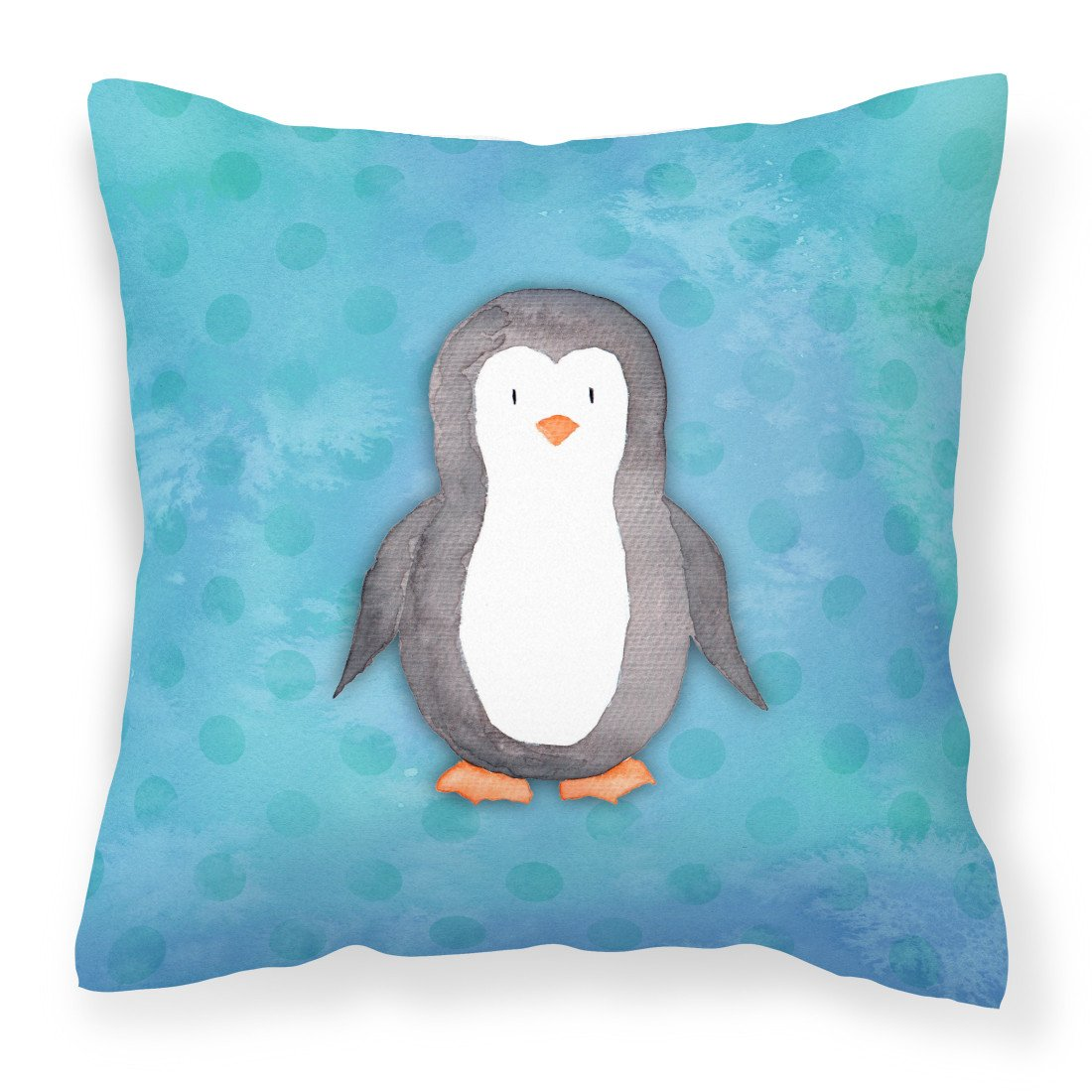 Buy this Polkadot Penguin Watercolor Fabric Decorative Pillow BB7376PW1818