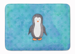 Buy this Polkadot Penguin Watercolor Machine Washable Memory Foam Mat BB7376RUG