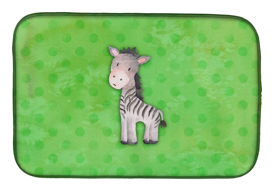 Buy this Polkadot Zebra Watercolor Dish Drying Mat BB7377DDM