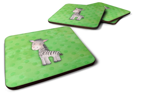 Buy this Polkadot Zebra Watercolor Foam Coaster Set of 4 BB7377FC
