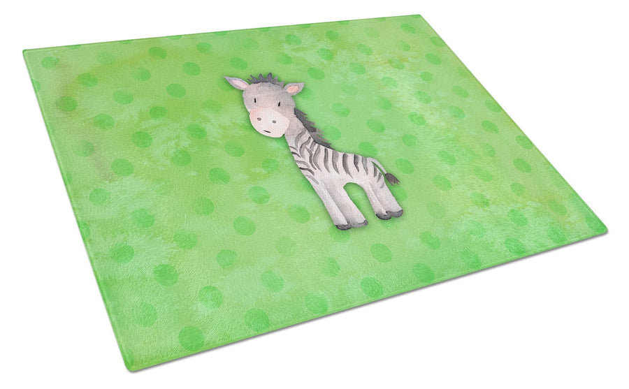 Buy this Polkadot Zebra Watercolor Glass Cutting Board Large BB7377LCB