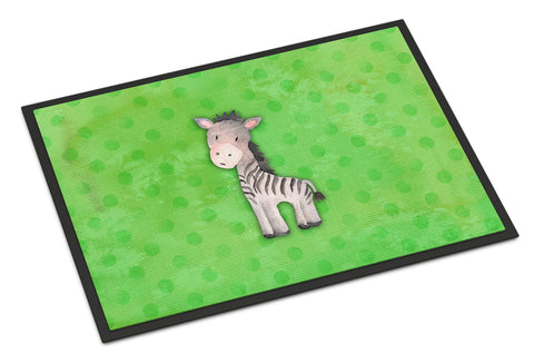 Buy this Polkadot Zebra Watercolor Indoor or Outdoor Mat 18x27 BB7377MAT