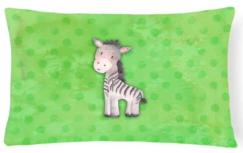 Buy this Polkadot Zebra Watercolor Canvas Fabric Decorative Pillow BB7377PW1216