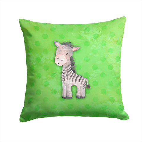 Buy this Polkadot Zebra Watercolor Fabric Decorative Pillow BB7377PW1414