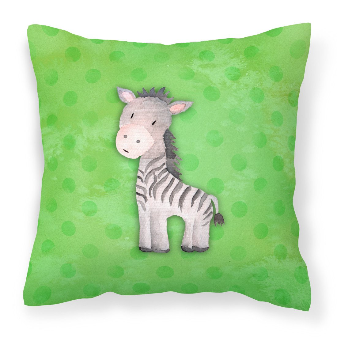 Buy this Polkadot Zebra Watercolor Fabric Decorative Pillow BB7377PW1818