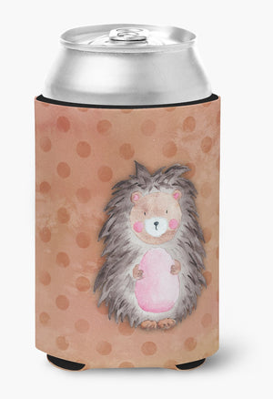 Buy this Polkadot Hedgehog Watercolor Can or Bottle Hugger BB7378CC
