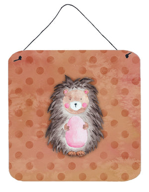 Buy this Polkadot Hedgehog Watercolor Wall or Door Hanging Prints BB7378DS66