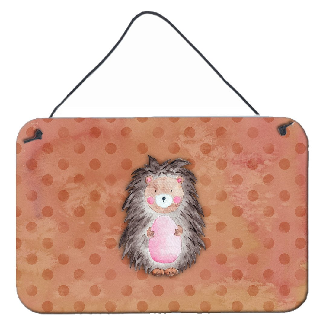 Buy this Polkadot Hedgehog Watercolor Wall or Door Hanging Prints BB7378DS812