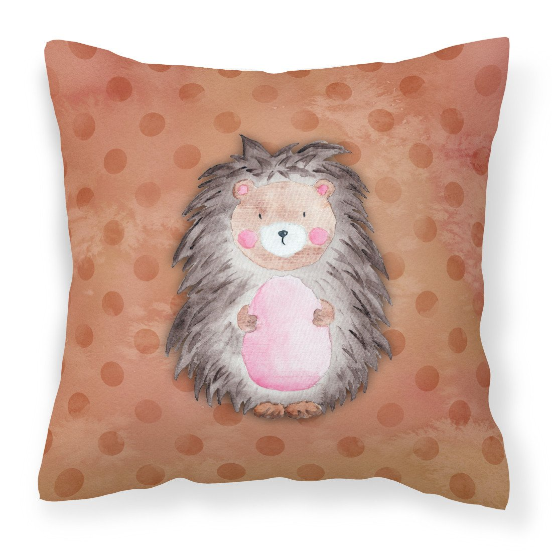 Buy this Polkadot Hedgehog Watercolor Fabric Decorative Pillow BB7378PW1818