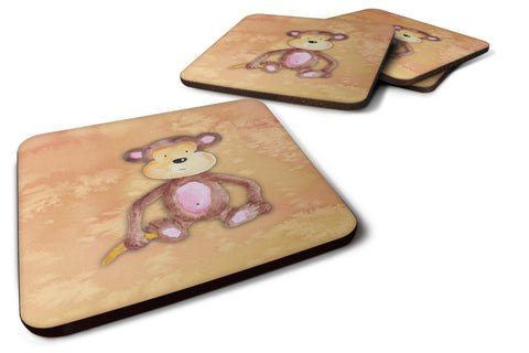 Buy this Monkey Watercolor Foam Coaster Set of 4 BB7380FC
