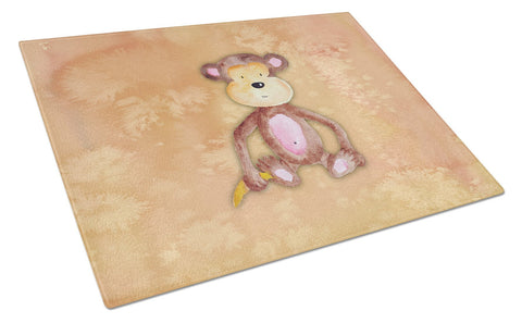 Buy this Monkey Watercolor Glass Cutting Board Large BB7380LCB