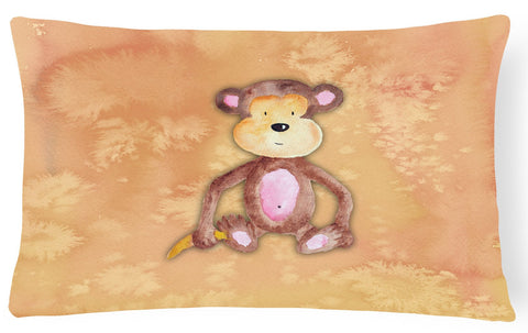 Buy this Monkey Watercolor Canvas Fabric Decorative Pillow BB7380PW1216