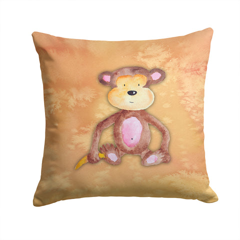 Buy this Monkey Watercolor Fabric Decorative Pillow BB7380PW1414