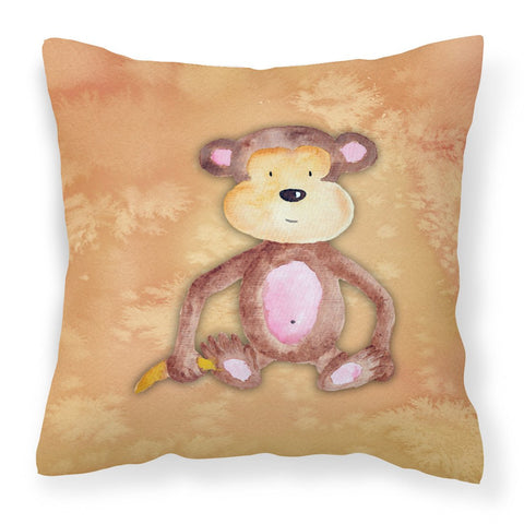 Buy this Monkey Watercolor Fabric Decorative Pillow BB7380PW1818