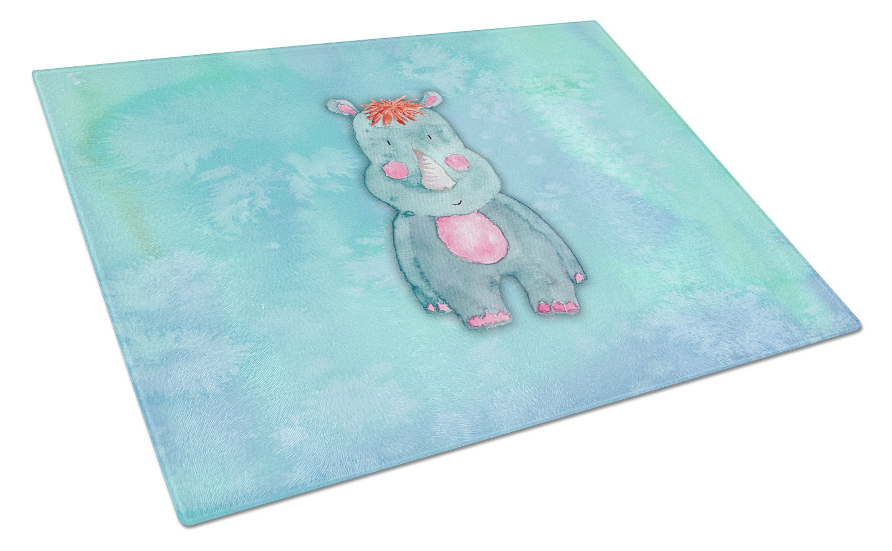 Buy this Rhinoceros Watercolor Glass Cutting Board Large BB7381LCB
