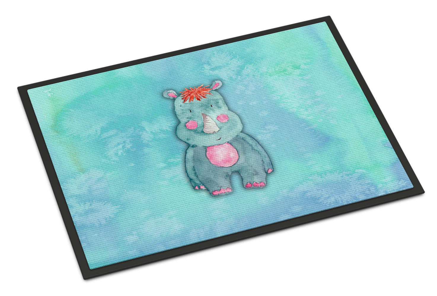 Rhinoceros Watercolor Indoor or Outdoor Mat 18x27 BB7381MAT by Caroline's Treasures