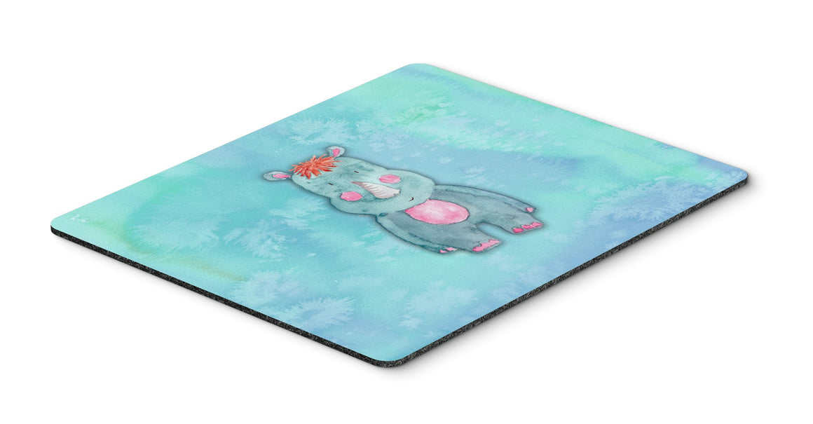 Buy this Rhinoceros Watercolor Mouse Pad, Hot Pad or Trivet BB7381MP
