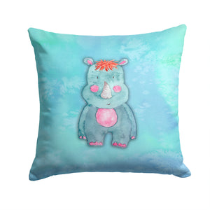 Buy this Rhinoceros Watercolor Fabric Decorative Pillow BB7381PW1414