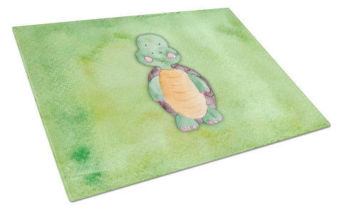 Buy this Turtle Watercolor Glass Cutting Board Large BB7382LCB