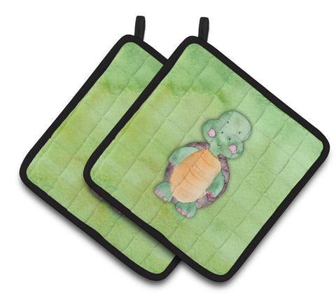 Buy this Turtle Watercolor Pair of Pot Holders BB7382PTHD