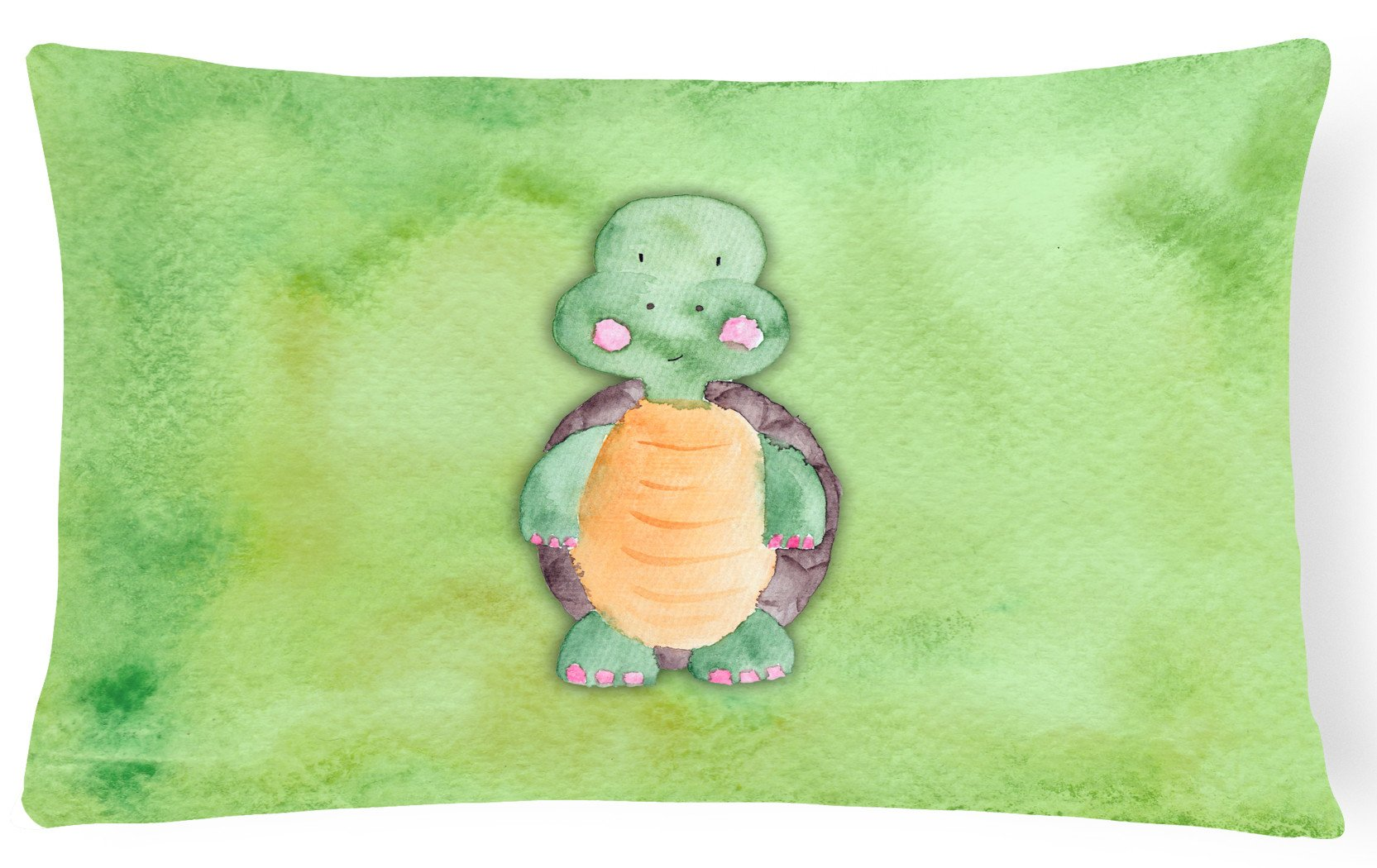 Turtle Watercolor Canvas Fabric Decorative Pillow BB7382PW1216 by Caroline's Treasures