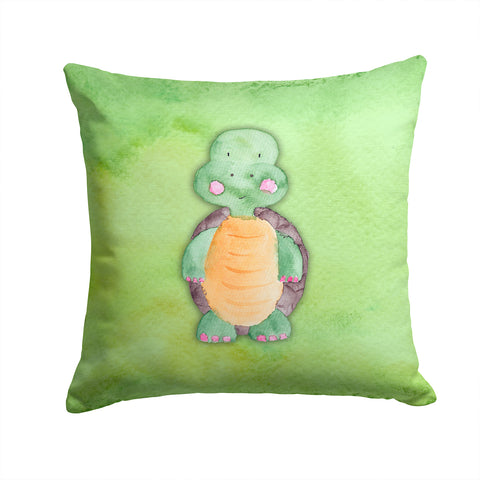 Buy this Turtle Watercolor Fabric Decorative Pillow BB7382PW1414