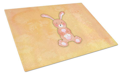 Buy this Rabbit Watercolor Glass Cutting Board Large BB7383LCB