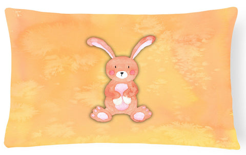 Buy this Rabbit Watercolor Canvas Fabric Decorative Pillow BB7383PW1216
