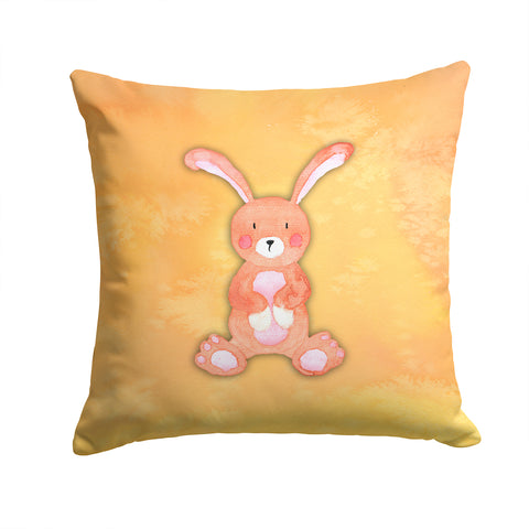 Buy this Rabbit Watercolor Fabric Decorative Pillow BB7383PW1414