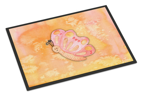 Buy this Butterfly Watercolor Indoor or Outdoor Mat 18x27 BB7384MAT