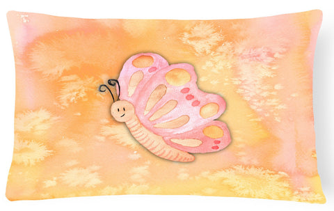 Buy this Butterfly Watercolor Canvas Fabric Decorative Pillow BB7384PW1216