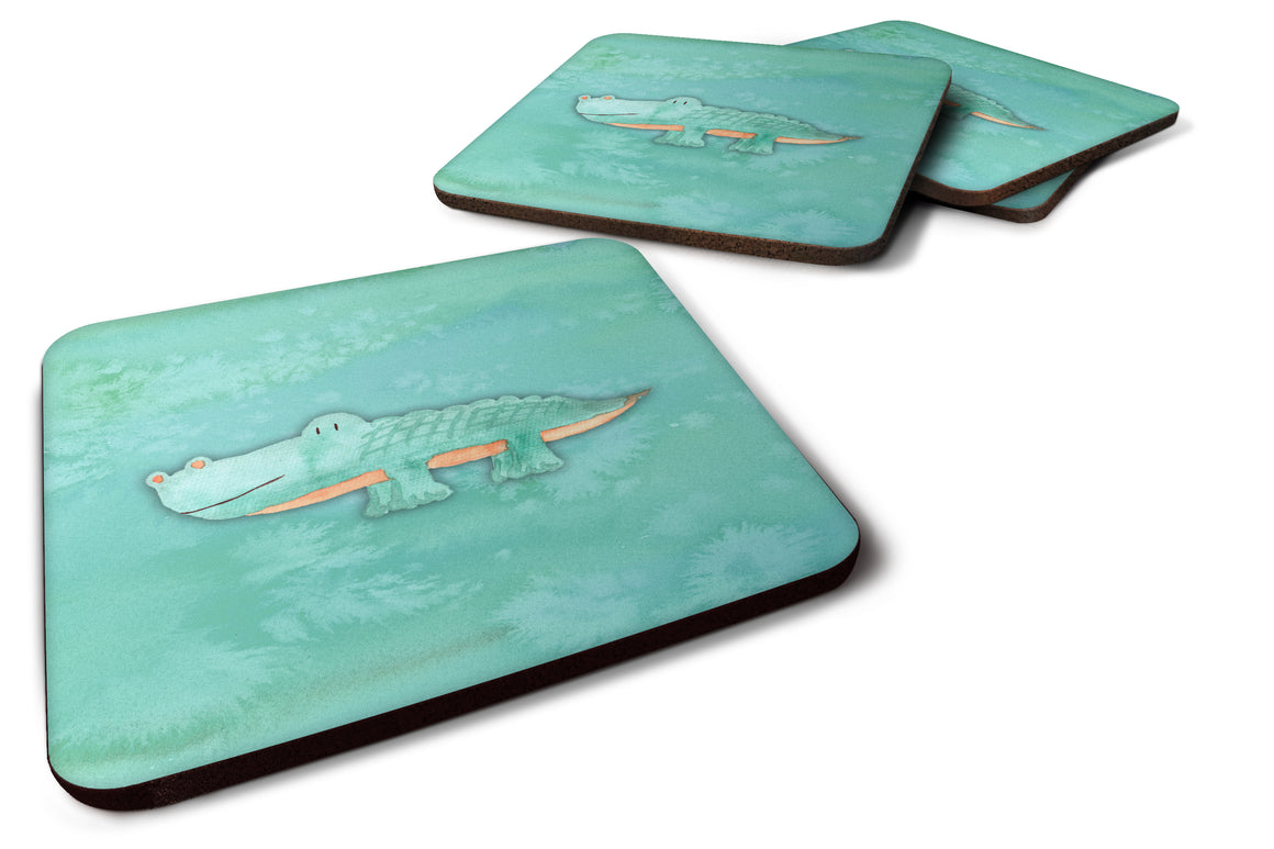 Buy this Alligator Watercolor Foam Coaster Set of 4 BB7385FC
