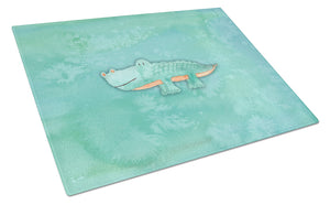 Buy this Alligator Watercolor Glass Cutting Board Large BB7385LCB