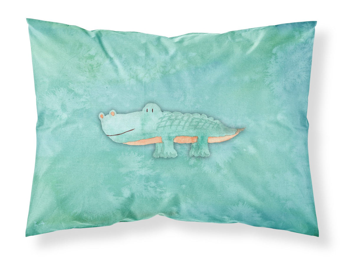 Buy this Alligator Watercolor Fabric Standard Pillowcase BB7385PILLOWCASE