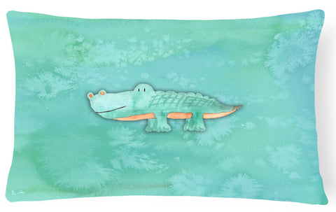 Buy this Alligator Watercolor Canvas Fabric Decorative Pillow BB7385PW1216