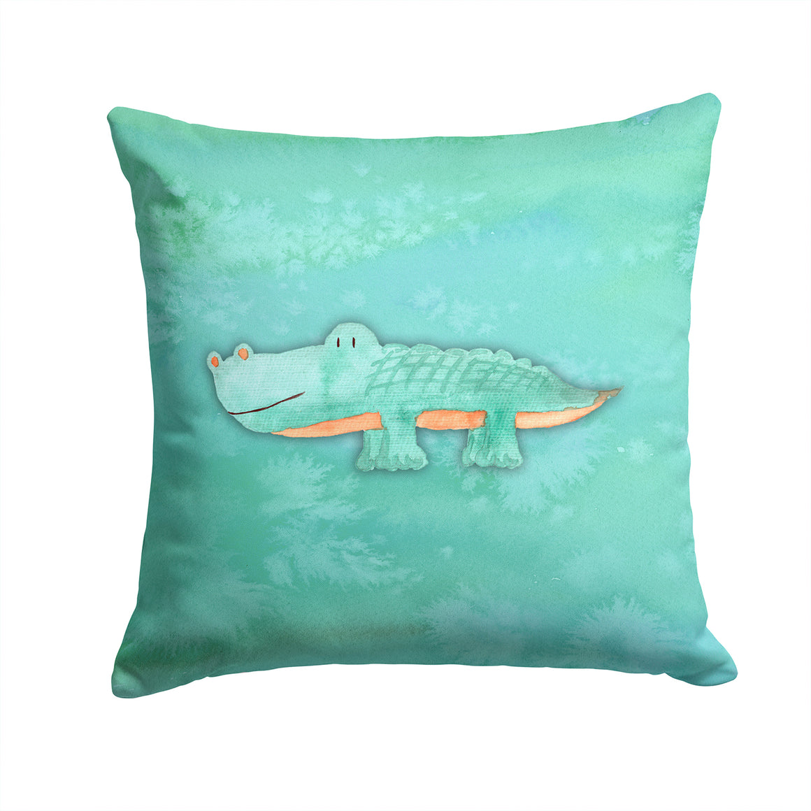 Buy this Alligator Watercolor Fabric Decorative Pillow BB7385PW1414