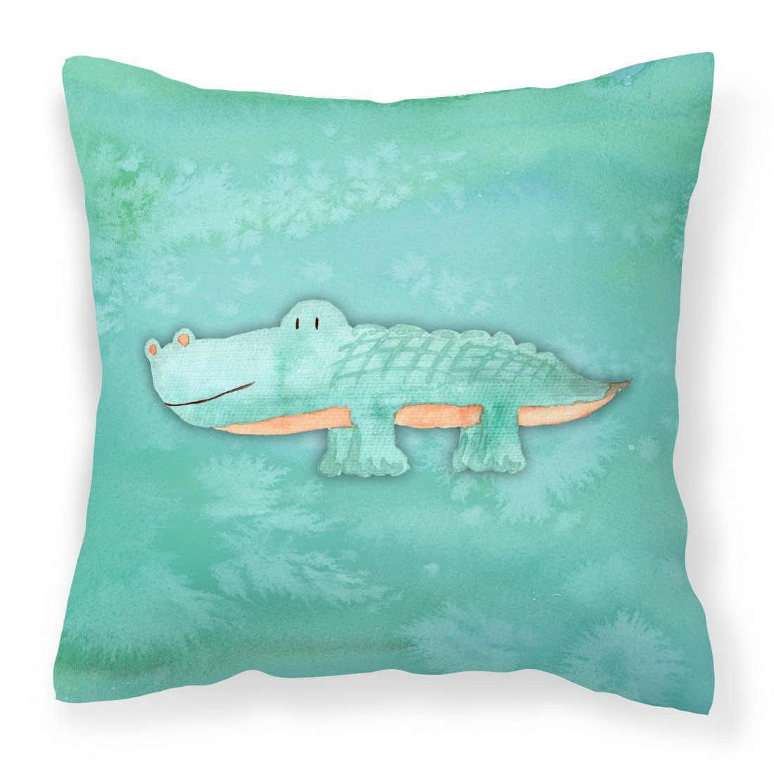 Buy this Alligator Watercolor Fabric Decorative Pillow BB7385PW1818