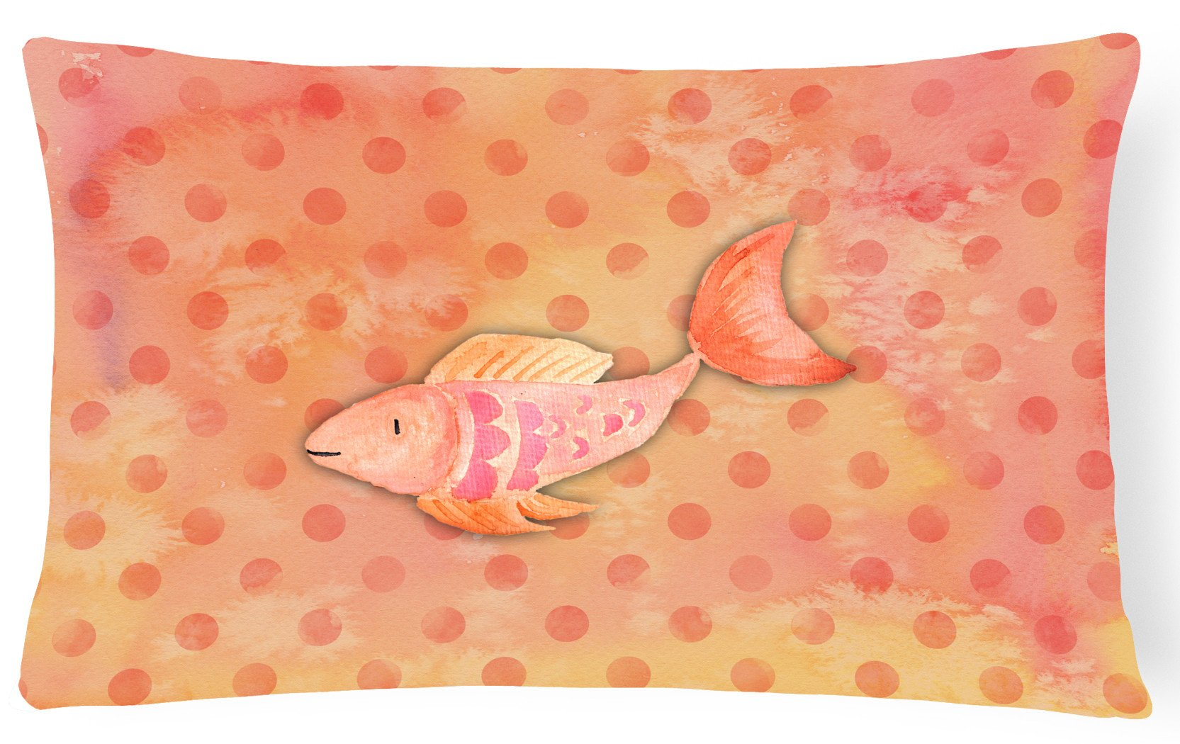 Orange Fish Watercolor Canvas Fabric Decorative Pillow BB7387PW1216 by Caroline's Treasures