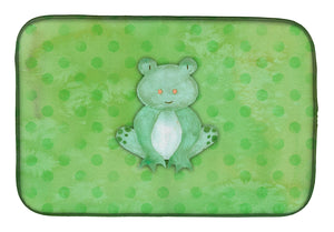 Buy this Polkadot Frog Watercolor Dish Drying Mat BB7388DDM