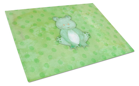 Buy this Polkadot Frog Watercolor Glass Cutting Board Large BB7388LCB