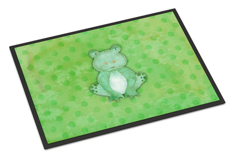 Buy this Polkadot Frog Watercolor Indoor or Outdoor Mat 18x27 BB7388MAT