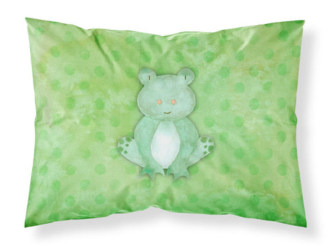 Buy this Polkadot Frog Watercolor Fabric Standard Pillowcase BB7388PILLOWCASE