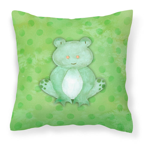 Buy this Polkadot Frog Watercolor Fabric Decorative Pillow BB7388PW1818