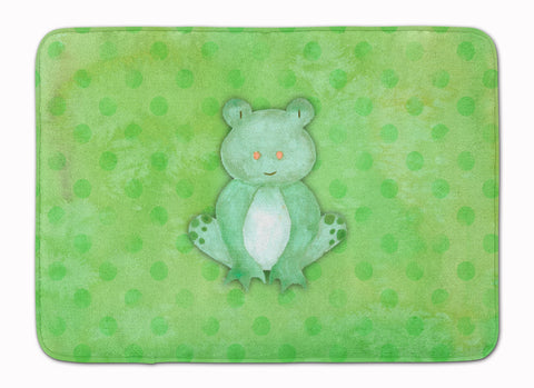 Buy this Polkadot Frog Watercolor Machine Washable Memory Foam Mat BB7388RUG