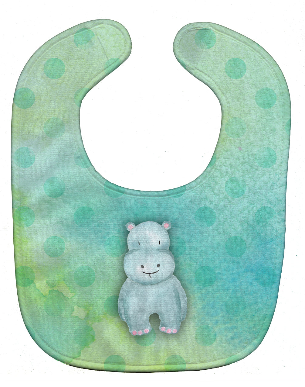 Buy this Polkadot Hippopotamus Watercolor Baby Bib BB7389BIB