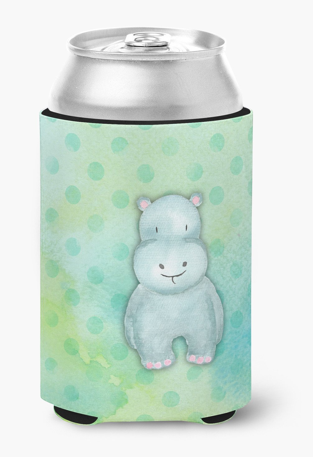 Polkadot Hippopotamus Watercolor Can or Bottle Hugger BB7389CC by Caroline's Treasures